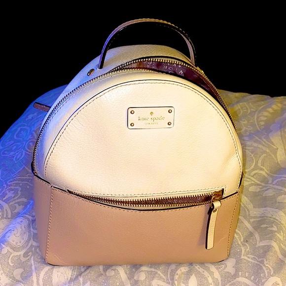 Kate spade backpack . Light pink & nude